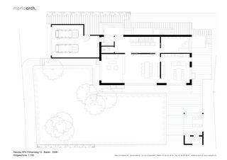 Erdgeschoss EFH am Föhrenweg von Merlo Architekten AG