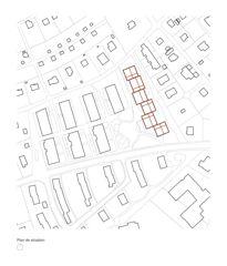 Situationsplan Rigaud 55 von Bonhôte Zapata architectes SA