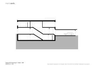 Schnitt A-A EFH am Föhrenweg von Merlo Architekten AG