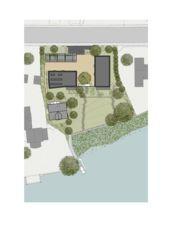 Lageplan 1:500 Wohnen am See von Schindler Friede Architekten