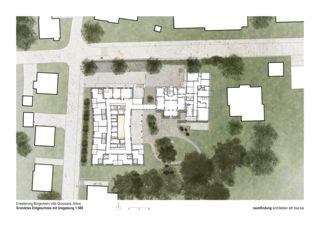 Grundriss Erdgeschoss Haus Selma - Erweiterung Bürgerheim von raumfindung architekten gmbh