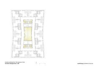 Grundriss Obergeschoss Haus Selma - Erweiterung Bürgerheim von raumfindung architekten gmbh