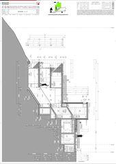 Schnitt A-A Casa secondaria von Studio d'architettura Ernesto Bolliger