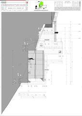 Schnitt B-B e Ostfassade Casa secondaria von Studio d'architettura Ernesto Bolliger