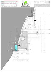 Schnitt C-C Ostfassade Casa secondaria von Studio d'architettura Ernesto Bolliger