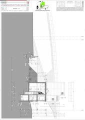 Schnitt D-D Casa secondaria von Studio d'architettura Ernesto Bolliger