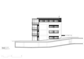 façade est Mehrfamilienhaus Grampenweg 9, Bülach de Hansjörg Betschart,   Architektur + Fotografie