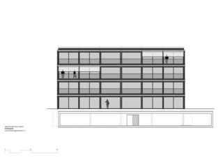 Südfassade Mehrfamilienhaus Grampenweg 9, Bülach von Hansjörg Betschart,   Architektur + Fotografie