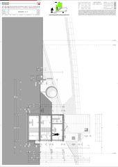 Schnitt E-E Casa secondaria von Studio d'architettura Ernesto Bolliger