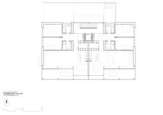 étage standard Mehrfamilienhaus Grampenweg 9, Bülach de Hansjörg Betschart,   Architektur + Fotografie