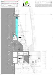 Schnitt F-F Casa secondaria von Studio d'architettura Ernesto Bolliger