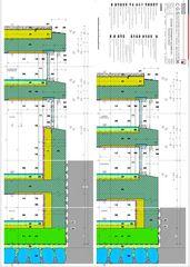 Schnitt Schiebefenster und -türen Westfassade Casa secondaria von Studio d'architettura Ernesto Bolliger