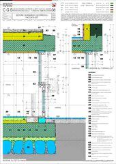 Schnitt Schiebefenster und -türen, Ostfassade Casa secondaria von Studio d'architettura Ernesto Bolliger