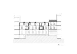 Längsschnitt, Pilatusstrasse 2 Wohn- und Gewerbehaus Pilatus- Erlenstrasse, Zug von RÖÖSLI ARCHITEKTEN AG
