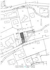 Situationsplan 1:500 Casa secondaria von Studio d'architettura Ernesto Bolliger