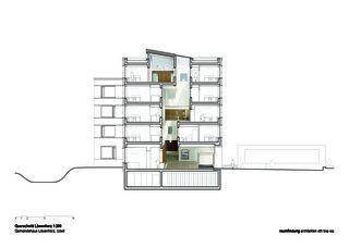 Coupe transversale 1:200 Gemeindehaus