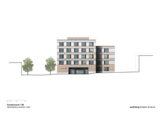 Vue de façade 1:300 Gemeindehaus