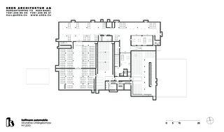 Untergeschoss hoffmann automobile aesch von KREN Architektur AG