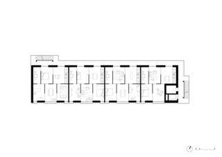 Plan étage supérieur Wohnhaus Gartenstrasse Baden de Meier Leder Architekten AG