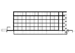 Coupe longitudinale Wohnhaus Gartenstrasse Baden de Meier Leder Architekten AG