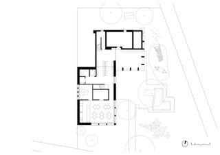 Grundriss Erdgeschoss Erweiterung Kindergarten Allmend in Baden von Meier Leder Architekten AG