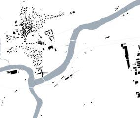 Plan de masse 1:2000 «verbindende Landschaften», Beton - & Kieswerk in Bonaduz de