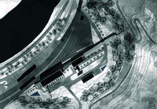 Situation 1:1000 «verbindende Landschaften», Beton - & Kieswerk in Bonaduz de