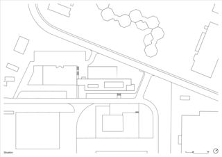 Situationsplan Kantonspolizei Fribourg von deillon delley architectes sa