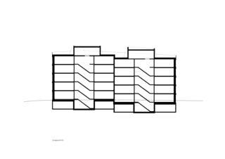 Coupe longitudinale Martinshöhe de UNIT Architekten AG