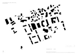 Schwarzplan Überbauung Steinhausen – SAALBAU Dreiklang von Müller Sigrist Architekten AG