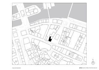 Plan de situation Transformation de façade à Genève de [GAA] Guenin Atelier d'Architectures