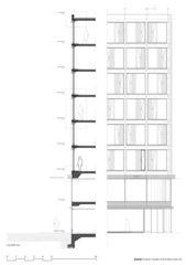 Coupe générale AA' Transformation de façade à Genève de [GAA] Guenin Atelier d'Architectures