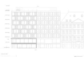 Façade place de la Fusterie Transformation de façade à Genève de [GAA] Guenin Atelier d'Architectures