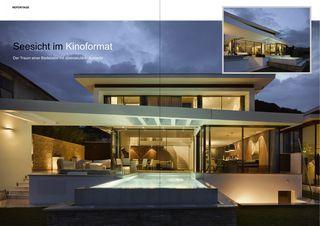 Seesicht im Kinoformat Azimut Pool Villen von Wegmüller | Briggen Architektur AG