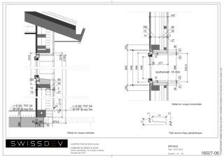Fassadendetails Les Biches von SWISSDEV SA