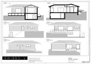 Schnitte und Fassaden Villa A Les Biches von SWISSDEV SA