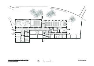 Rez-de-chaussée Heilpädagogische Schule de Architektbüro<br/>