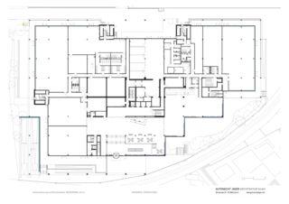 Medienpark plan rez-de-chaussée Gesamtsanierung und Büroausbauten MEDIENPARK, Zürich de Gutknecht Jäger Architektur GmbH