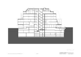 Medienpark coupe Gesamtsanierung und Büroausbauten MEDIENPARK, Zürich de Gutknecht Jäger Architektur GmbH