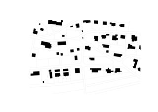 Schwarzplan Zwischen Himmel und Erde, Neubau EFH von Blaser Architekten AG