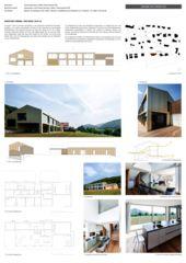 Plakat Arc-Award Zwischen Himmel und Erde, Neubau EFH von Blaser Architekten AG