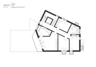 Plan rez-de-chaussée 7 1/2 Zimmer Stadtvilla de bauwelt architekten ag
