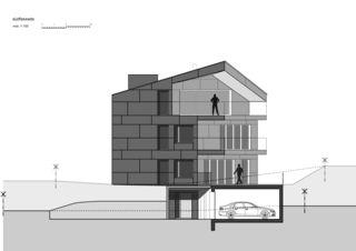 Façade sud 7 1/2 Zimmer Stadtvilla de bauwelt architekten ag