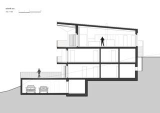 Schnitt-A 7 1/2 Zimmer Stadtvilla von bauwelt architekten ag