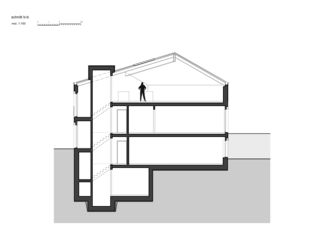 Schnitt-B 7 1/2 Zimmer Stadtvilla von bauwelt architekten ag
