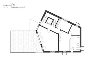 Plan sous-sol 7 1/2 Zimmer Stadtvilla de bauwelt architekten ag