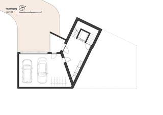 Hauseingang 7 1/2 Zimmer Stadtvilla von bauwelt architekten ag