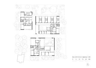 Erdgeschoss Haus ABC Siedlung Frieden, Zürich von pool Architekten ETH SIA BSA