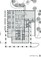 Suurstoffi 22 Grundriss EG Bürogebäude Suurstoffi 22 von Burkard Meyer Architekten BSA