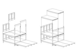 Suurstoffi 22 système du montage Bürogebäude Suurstoffi 22 de Burkard Meyer Architekten BSA